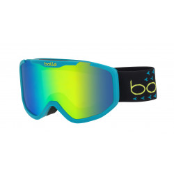 MASQUE DE SKI ROCKET PLUS MATTE BLUE & BLACK GREEN EMERALD