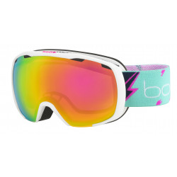 MASQUE DE SKI ROYAL MATTE WHITE FLASH ROSE GOLD