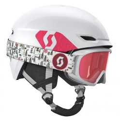 CASQUE DE SKI KEEPER 2 - COMBO WHITE/RUBY RED + GOGGLE JR WITT