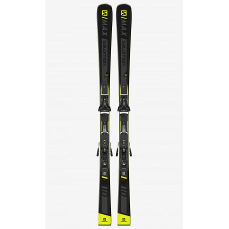 SKI S/MAX 10 + FIXATIONS Z10 GW BLACK L80