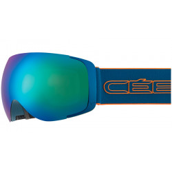 MASQUE DE SKI EXO MAT PETROL ORANGE BROWN FLASH BLUE CAT.3