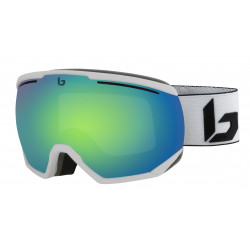 MASQUE DE SKI NORTHSTAR MATTE WHITE CORP GREEN EMERALD