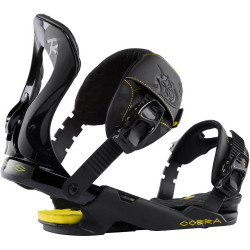 FIXATIONS DE SNOWBOARD COBRA BLACK