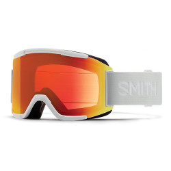 MASQUE DE SKI SQUAD WHITE VAPOR CHROMAPOP PHOTOCHROMIC RED MIRROR CAT.1-2