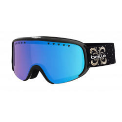 MASQUE DE SKI SCARLETT SHINY BLACK NIGHT PHOTOCHROMIC VERMILLON GUN