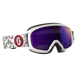 MASQUE DE SKI JR WITTY WHITE/PINK AMPLIFIER PURPLE CHROME