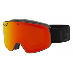 MASQUE DE SKI NEVADA MATTE BLACK CORP SUNRISE