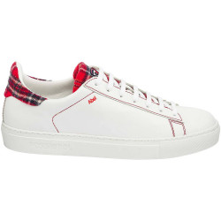 BASKETS ABEL TARTAN RED W