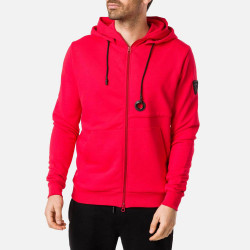SWEAT DOUBLE HOODIE FZ RED