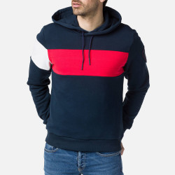 SWEAT COLORBLOCK HOOD DAK NAVY