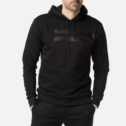SWEAT STRIPES SWEAT HOOD BLACK