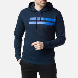 SWEAT STRIPES SWEAT HOOD DARK NAVY