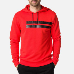 STRIPES SWEAT HOOD RED