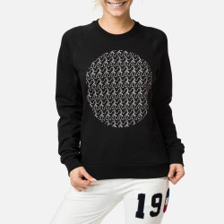 SWEAT W MOON SWEAT CREW BLACK