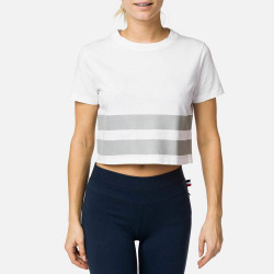 T-SHIRT W STRIPES TEE WHITE