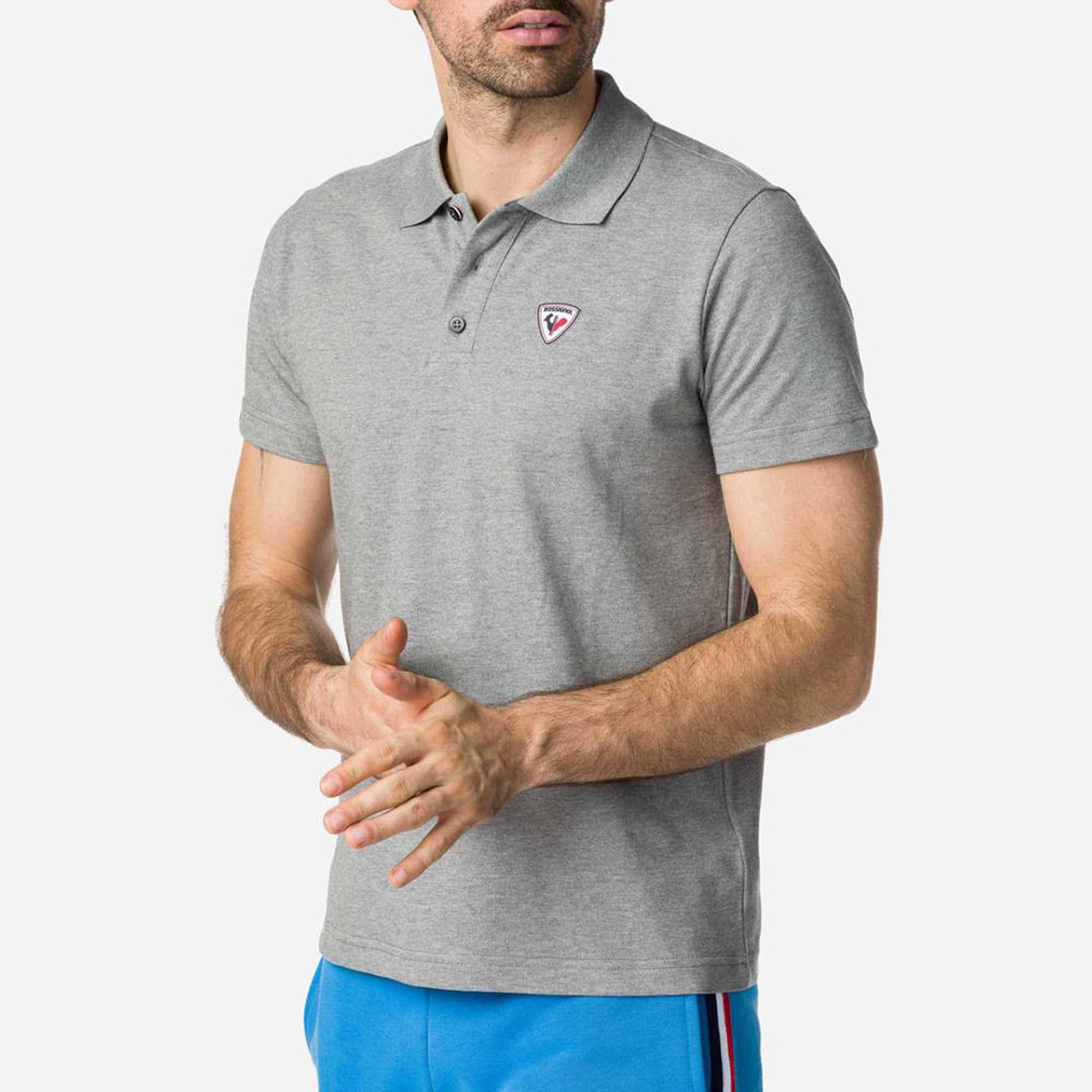 POLO ROOSTER CLASSIC HEATHER GREY