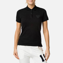 POLO W PATCH POLO BLACK