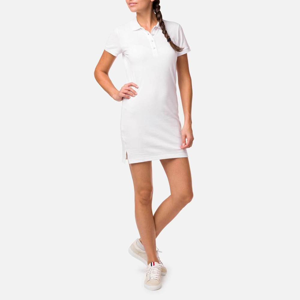 DRESS W POLO DRESS WHITE