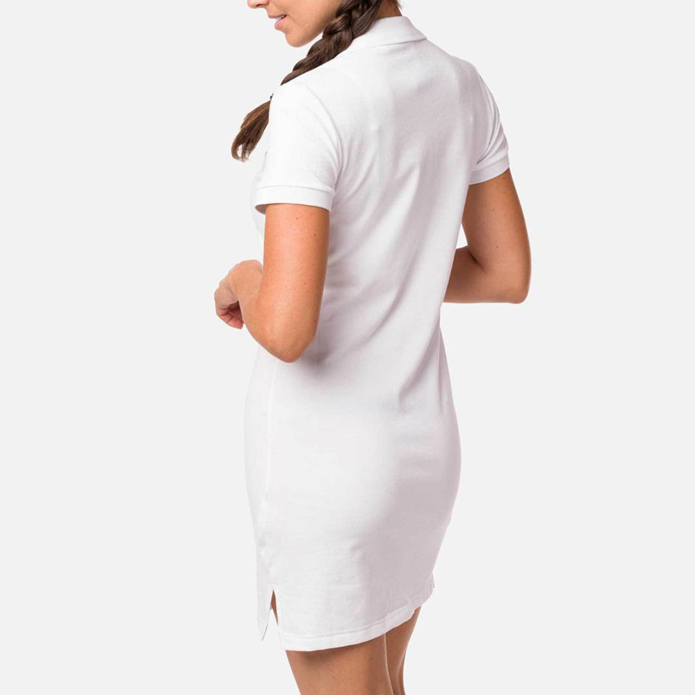 ROBE W POLO DRESS WHITE