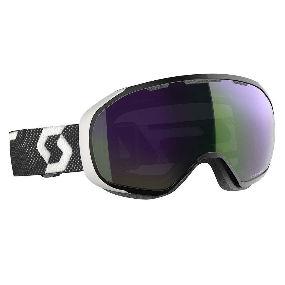 MASQUE DE SKI FIX BLACK/WHITE ENHANCER GREEN CHROME
