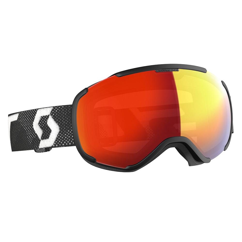 MASQUE DE SKI FAZE II LS BLACK/WHITE LIGHT SENSITIVE RED CHROME