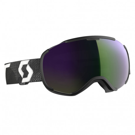 MASQUE DE SKI FAZE II BLACK/WHITE ENHANCER GREEN CHROME