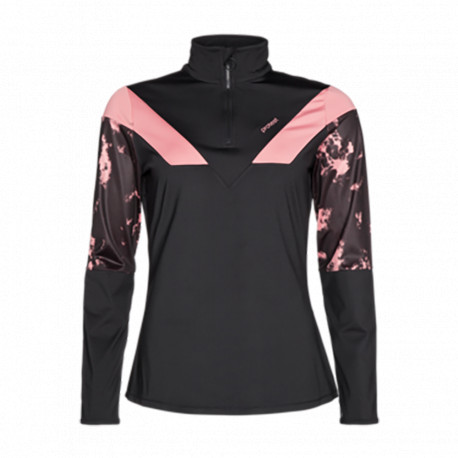 PULL BUBBLE 1/4 ZIP TOP THINK PINK