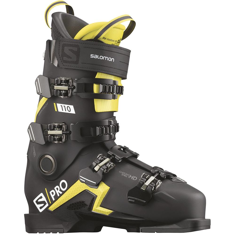 SKI BOOTS S/PRO 110 BLACK/ACID GREEN/W