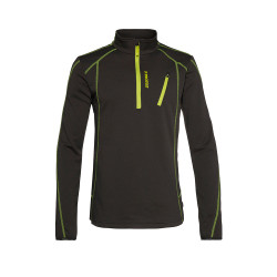 PULL HUMANS 1/4 ZIP TOP LIME ROCKS