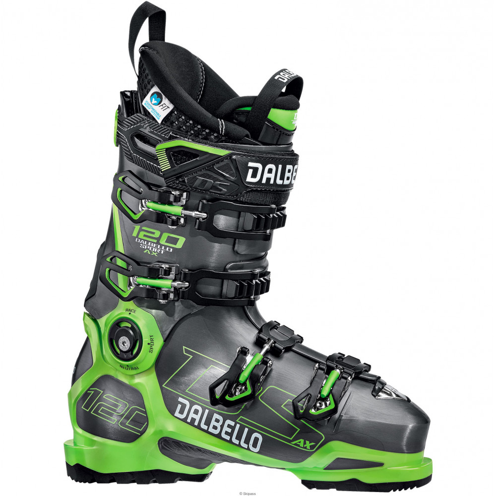 CHAUSSURES DE SKI DS AX 120 GW MS ANTHRACITE/GREEN