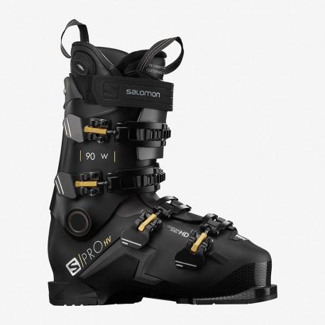 SKI BOOTS S/PRO HV 90 W CH BLACK/BELLUGA/GOLDEN GLAW