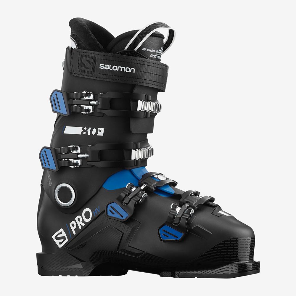 SKI BOOTS S/PRO HV 80 IC BLACK/RACE BLUE/WHITE