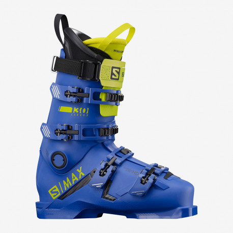 CHAUSSURE DE SKI S/MAX 130 CARBON RACE BLUE/ACID GREEN