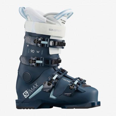 SKI BOOTS S/MAX 90 W PETROL BLUE/SCUBA BLUE/WHITE