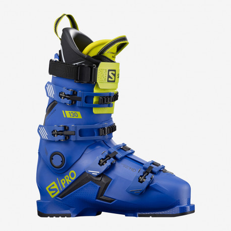 CHAUSSURE DE SKI S/PRO 130 RACE BLUE/BLACK/ACID GREEN