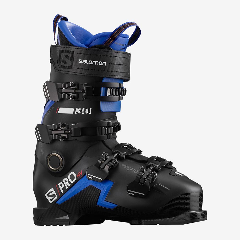SKI BOOTS S/PRO HV 130 BLACK/RACE BLUE/RED