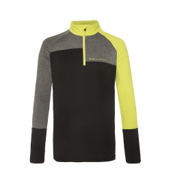 PULL HOLDME 1/4 ZIP TOP LIME ROCK