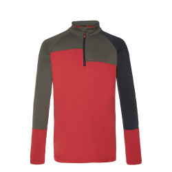 PULL HOLDME 1/4 ZIP TOP MARS RED