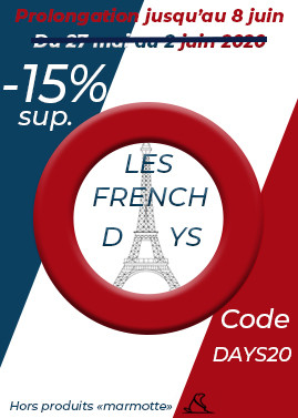 French Days : -15% sup. du 27 mai au 2 juin