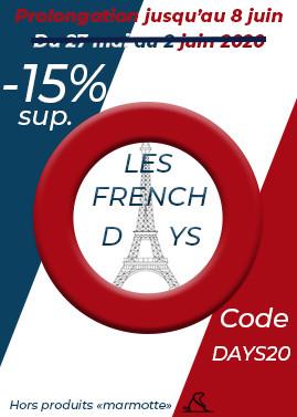 French Days : -15% sup. du 27 mai au 2 juin