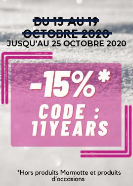 ANNIVERSAIRE : -15% AVEC LE CODE 11YEARS