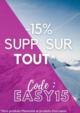 -15% SUR TOUT avec le code EASY15
