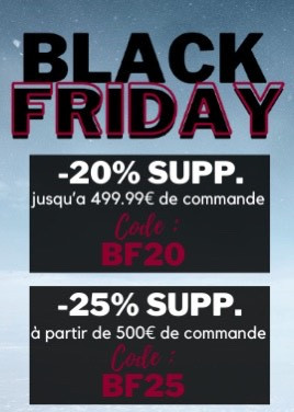 BLACK FRIDAY : PROLONGATION JUSQU'AU 6 DECEMBRE 2020