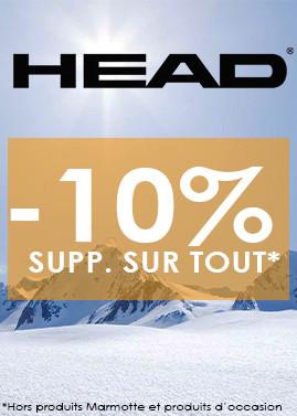 HEAD : -10% sur le matériel de ski et accessoire avec le code HEAD10