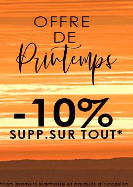 Les beaux jours arrivent ... -10% sur tout le site avec le code SPRING10