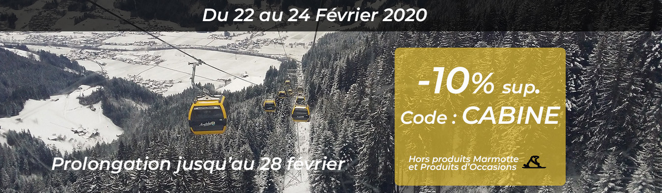 PROMO : -10% sup. avec le code CABINE du 22 au 24 février 2020