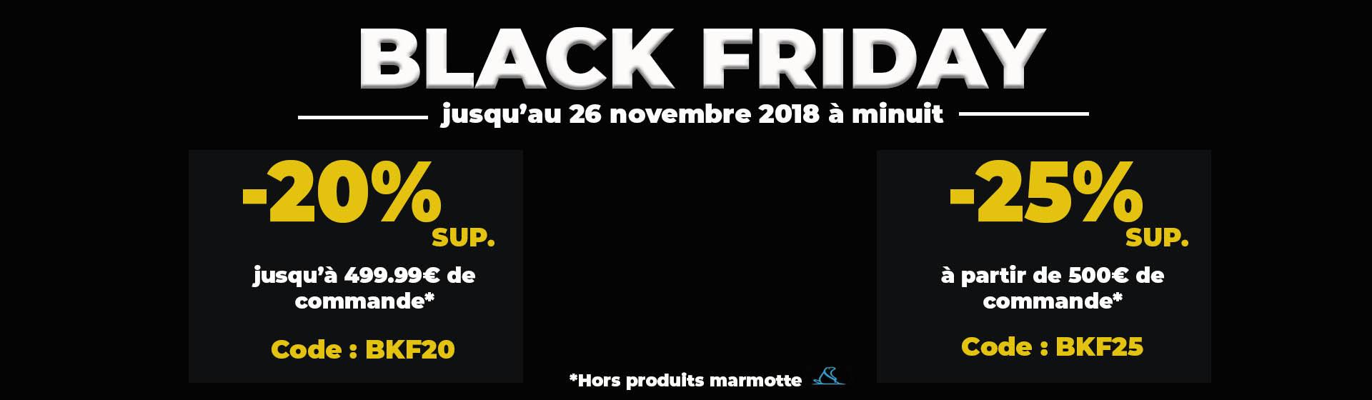Black Friday : jusqu'à -25% de remise supplémentaire