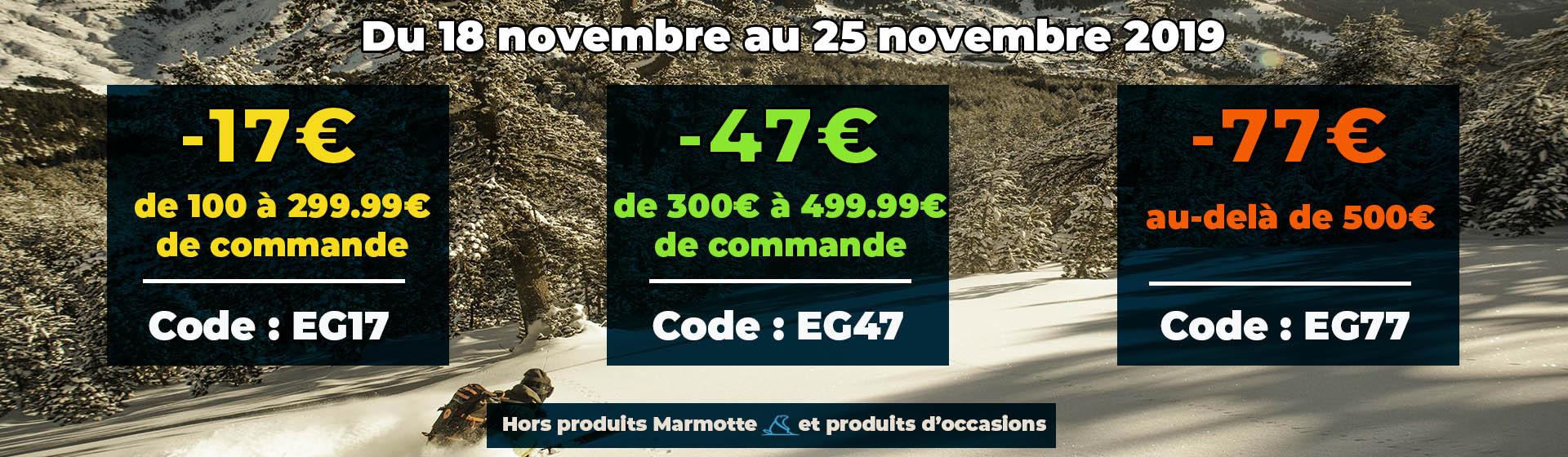 Jusqu'à -77€ sur votre commande du 18 au 25 novembre 2019