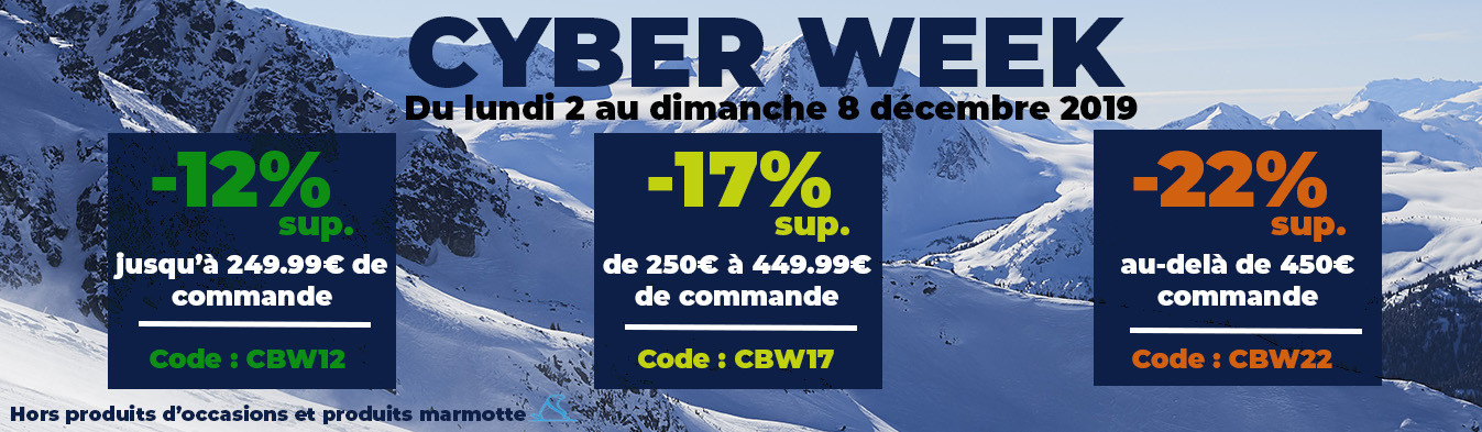 CYBER WEEK : jusqu'à -22% de remise supplémentaire jusqu'au 8 décembre