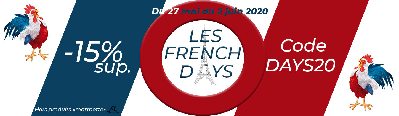 French Days : -15% supplémentaires avec le code DAYS20